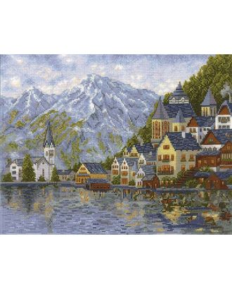 Набор для вышивания СДЕЛАЙ СВОИМИ РУКАМИ Женевское озеро 36х27 см арт. МГ-17435-1-МГ0167101