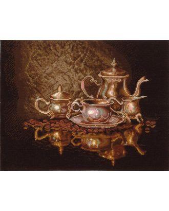 Набор для вышивания СДЕЛАЙ СВОИМИ РУКАМИ Кофейный сервиз 35х28 см арт. МГ-17437-1-МГ0167103