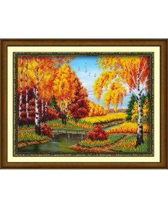 Набор для вышивания бисером ПАУТИНКА Золотая осень 28х38 см арт. МГ-17586-1-МГ0168206