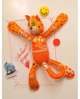 """Набор для изготовления текстильной игрушки с магнитами в стиле пэчворк """"М кот"""" 32,5см арт. МГ-730-1-МГ0169423"""