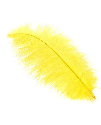 Перо страуса 40-45 см цв.желтый арт. МГ-78142-1-МГ0169813