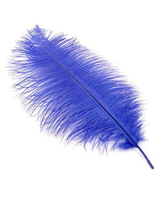 Перо страуса 40-45 см цв.синий арт. МГ-78146-1-МГ0170083