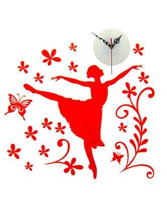 """СЛ.805853 Часы-наклейка на стену """"Балерина"""" 42х59,4см арт. МГ-78149-1-МГ0170373"""