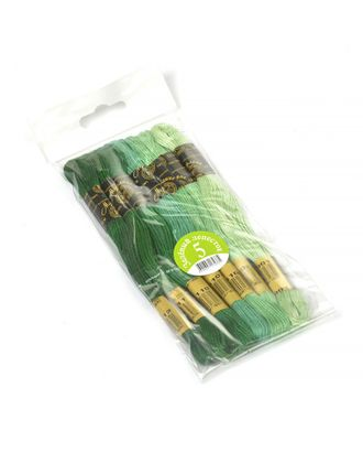 "Нитки мулине ""Цветик-семицветик"" 10м набор 7 мотков №5-зеленый лепесток арт. МГ-17824-1-МГ0170534"