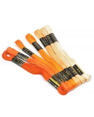 "Нитки мулине ""Цветик-семицветик"" 10м набор 7 мотков №2-оранжевый лепесток арт. МГ-17888-1-МГ0170902"