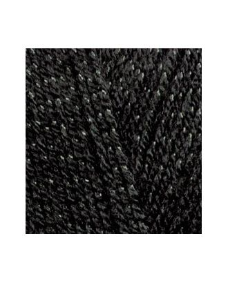 Пряжа для вязания Ализе Sal simli (95% акрил, 5% металлик) 5х100г/460м цв.060 черный арт. МГ-18138-1-МГ0172909