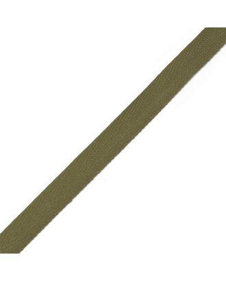 Тесьма киперная ш.1,3см хлопок 1,8г/см цв.оливковый арт. МГ-906-1-МГ0173709
