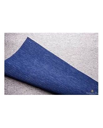 Бумага гофрированная с переходом Италия 50см х 2,5м 180г/м² цв.802/6 серебряно-синяя арт. МГ-18747-1-МГ0176612