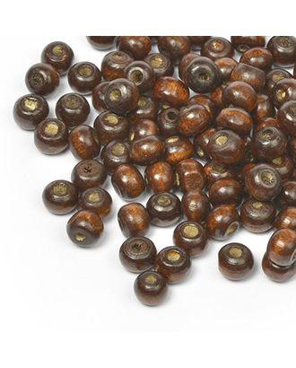 Бусины деревянные MAGIC HOBBY 477 цв.1 т.коричневый уп.40г 8мм, in Ø2 мм 400±3 шт арт. МГ-93742-1-МГ0176631