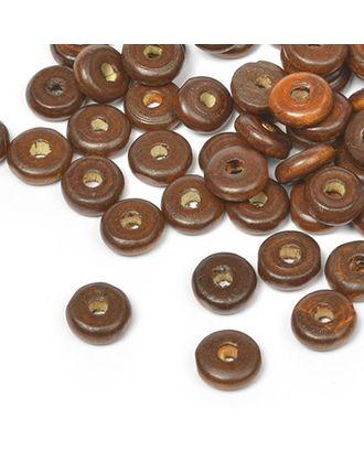 Бусины деревянные MAGIC HOBBY 482 цв.1 т.коричневый уп.40г 4х10мм, in Ø2 мм 210±3 шт арт. МГ-92873-1-МГ0176669