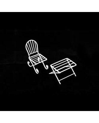 Металлические чайный столик и кресло арт. МГ-1108-1-МГ0176762