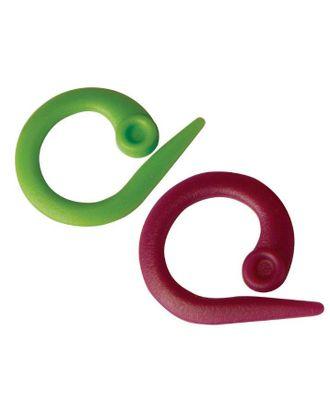 """10804 Knit Pro Маркировщик для петель """"Круг"""", пластик, зеленый/красный, уп.30шт арт. МГ-19149-1-МГ0179422"""