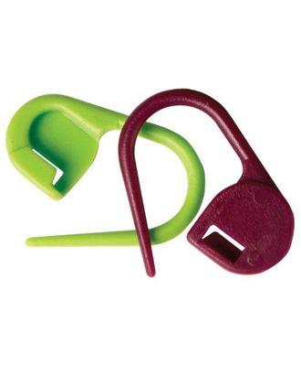 """Маркировщик для петель """"Булавка"""",10805 Knit Pro пластик, зеленый/красный, уп.30шт арт. МГ-19150-1-МГ0179423"""