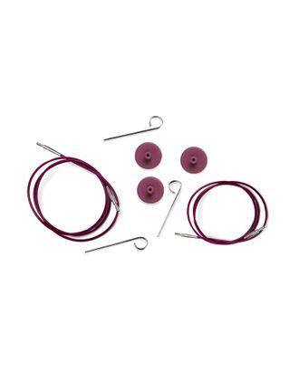 10505 Knit Pro Тросик (заглушки 2шт, ключик) для съемных спиц, длина 126 (готовая длина спиц 150)см, фиолетовый арт. МГ-19347-1-МГ0179958