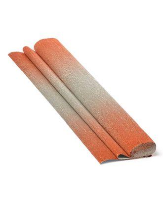 Бумага гофрированная с переходом Италия 50см х 2,5м 180г/м² цв.802/4 серебряно-красная арт. МГ-19475-1-МГ0180674