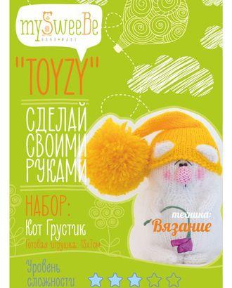 """Набор для изготовления текстильной игрушки Toyzy """"Кот Грустик"""" Вязание арт. МГ-1447-1-МГ0181338"""