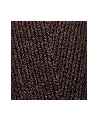 Пряжа для вязания Ализе LanaGold 800 (49% шерсть, 51% акрил) 5х100г/800м цв.026 коричневый арт. МГ-19726-1-МГ0181744