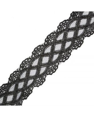 Кружево на сетке DMS062 ш.4,5см цв.черный арт. МГ-68267-1-МГ0183916