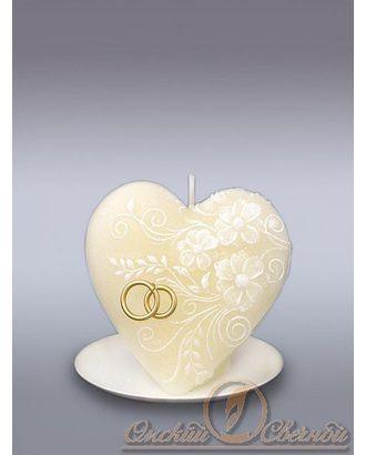 Свеча Сердце цветочное сл.кость арт. МГ-78230-1-МГ0185705