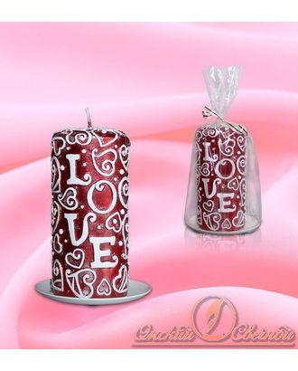 Свеча Пенек love рубин арт. МГ-78240-1-МГ0187870