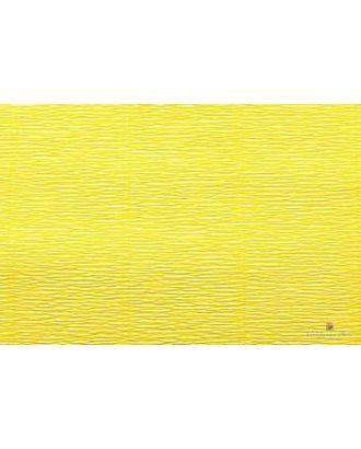 Бумага гофрированная Италия 50см х 2,5м 140г/м² цв.975 лимонно-желтый арт. МГ-20942-1-МГ0190436