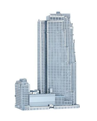 Объемная металлическая 3D модель 30 Rockefeller Plaza 5,9х2,5х9,5см арт. МГ-21030-1-МГ0191047