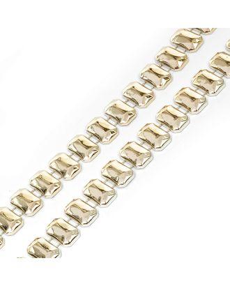 Тесьма пластиковая A01 цв.03 св.золото разм.8х15мм уп.9.14м арт. МГ-68557-1-МГ0191295