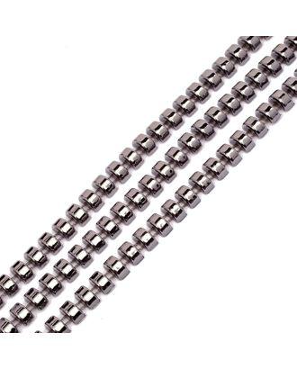 Тесьма пластиковая A02 цв.01 т.никель разм.8х4мм уп.9.14м арт. МГ-68558-1-МГ0191296