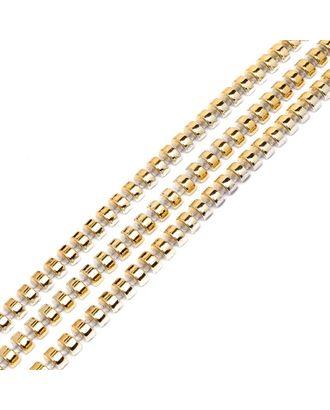 Тесьма пластиковая A02 цв.03 золото разм.8х4мм уп.9.14м арт. МГ-68560-1-МГ0191298