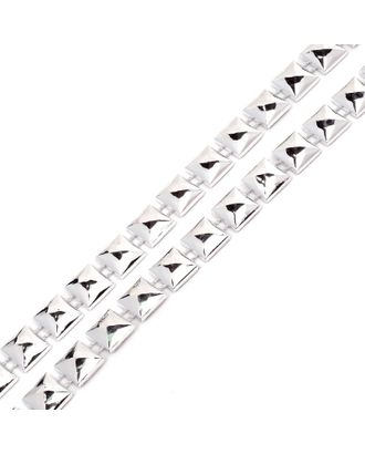 Тесьма пластиковая A04 цв.02 серебро разм.10х10мм уп.9.14м арт. МГ-68563-1-МГ0191301