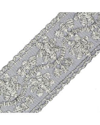 Кружево на сетке 10143A ш.6см цв.черный/серебро арт. МГ-68632-1-МГ0191974