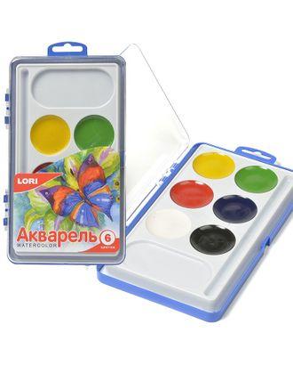 LORI АКВ-001 Акварельная краска в пласт.уп.(большая) 6 цв. б/к. арт. МГ-21123-1-МГ0192037