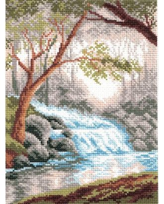 Рисунок на канве МАТРЕНИН ПОСАД - 0809-1 Утро в лесу арт. МГ-21286-1-МГ0192673