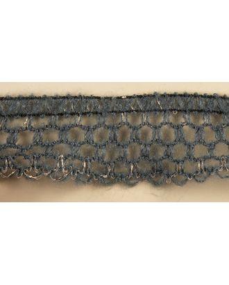 Тесьма-рюш паутинка односторонняя на резинке шир.30мм цв.серый-золото уп.45,7м арт. МГ-68671-1-МГ0193474
