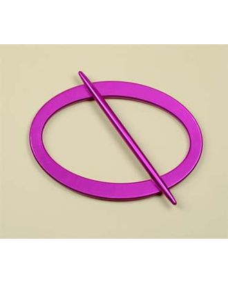 Подхват пластиковый для штор F015 овал 16,5х10см цв. ярк.розовый арт. МГ-68679-1-МГ0193858
