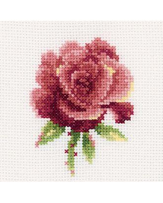 Набор для вышивания РТО Роза красная 10х10 см арт. МГ-22055-1-МГ0195551