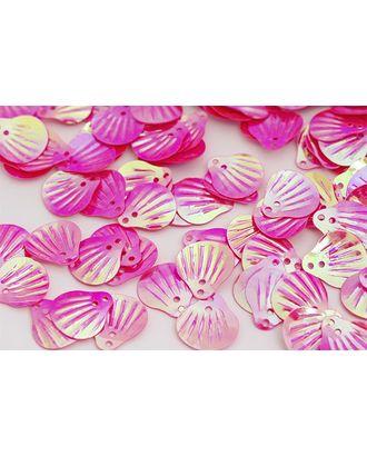 Пайетки россыпью Ideal 12х14мм цв.028 ярк.розовый уп.50г арт. МГ-2262-1-МГ0198223