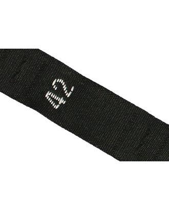 Размерники жаккардовые тафта 42 черный 10х32 мм ТВ в рул. 500 шт арт. МГ-2282-1-МГ0198911