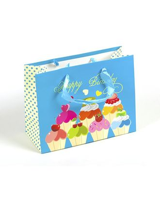 Пакет подарочный 18х23х10 цв.голубой арт. МГ-23449-1-МГ0200802