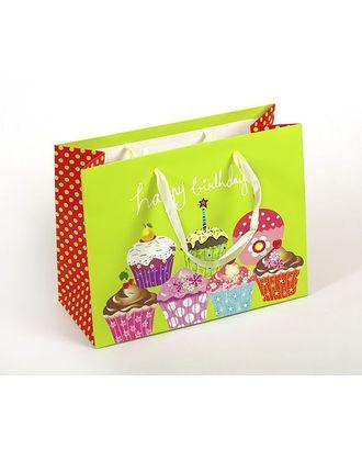 Пакет подарочный 18х23х10 цв.св.зеленый арт. МГ-23452-1-МГ0200805
