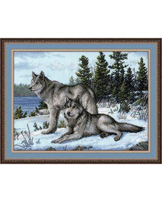 Набор для вышивания ОВЕН Волки 40х30 см арт. МГ-23848-1-МГ0202555