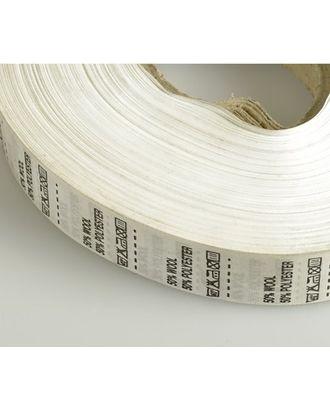 Состав и уход за тканью, Wool 50% Pоlyester 50%, цв.белый, 4000шт. арт. МГ-2527-1-МГ0203252