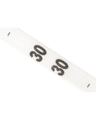 Размерники тканые 30 белый 10х35 мм в рул. 1250 шт арт. МГ-2651-1-МГ0207315