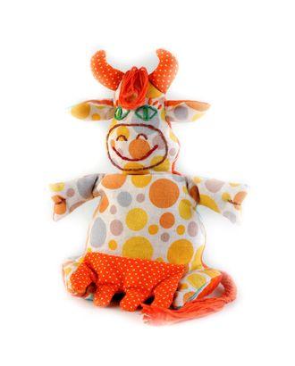 """Набор для изготовления текстильной игрушки-грелки """"Коровка-Буренка"""" 20 см арт. МГ-2877-1-МГ0215937"""