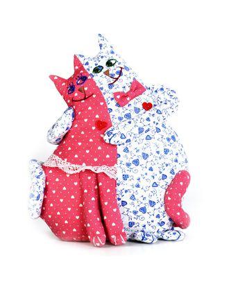 """Набор для изготовления текстильной игрушки """"Коты-неразлучники"""" 26см арт. МГ-2921-1-МГ0217060"""