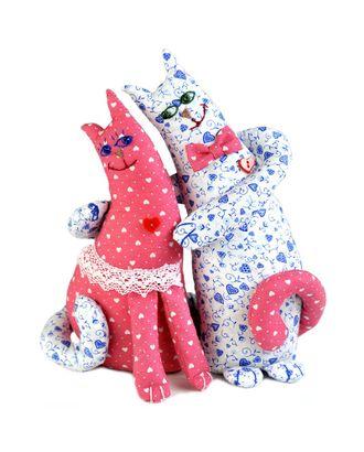 """Набор для изготовления текстильной игрушки """"Влюбленные коты"""" 26сме арт. МГ-2922-1-МГ0217061"""