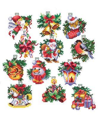 Набор для вышивания СДЕЛАЙ СВОИМИ РУКАМИ Новогодние игрушки уп.12 шт 6х6 см арт. МГ-29729-1-МГ0229023
