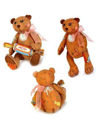 """Набор для изготовления текстильной игрушки в чердачном стиле """"Мишка - Сладкоежка"""" 26х18,5 см арт. МГ-3178-1-МГ0233009"""