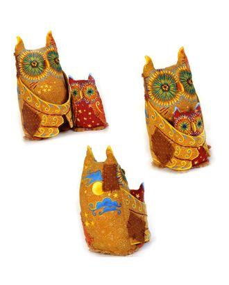 """Набор для изготовления текстильной игрушки в чердачном стиле """"Совы-Хранители Луны"""" 21 см и 11,5 см арт. МГ-3252-1-МГ0234506"""