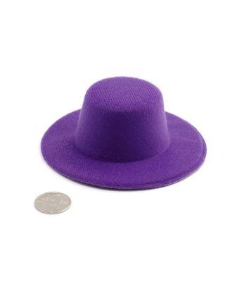 Шляпа круглая д.10см цв.фиолетовый арт. МГ-3256-1-МГ0234797
